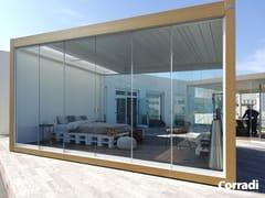 Corradi, MYGLASS Vetrata scorrevole in alluminio e vetro