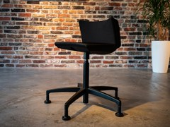 Sgabello da ufficio a 5 razze ergonomico girevole in tessuto MYKINEMA | Sgabello da ufficio a 5 razze -