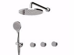 Set doccia incasso con deviatore, soffione e doccetta MYRING - FMR0115W2KB - MyRing