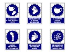 Segnaletica per distanziamento in plasticaCartelli di obbligo - PLANNING SISPLAMO