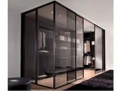 Anta scorrevole in vetro per cabine armadio SPARK | Anta in vetro - Aluminium Chic