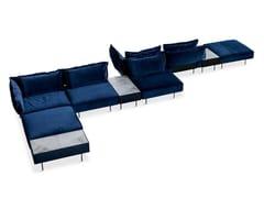 Divano angolare modulare in velluto Divano modulare - Modular Sofa