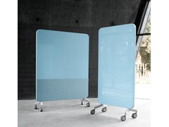 Lavagna per ufficio magnetica con ruote Mood Fabric Mobile - Mobile Glass Boards