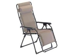 Sedia a sdraio reclinabile in acciaio con braccioli MOVIDA SOFT -
