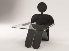 Tavolino in acciaio e vetroMR. WILSON - YOUMEAND