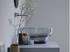 Lavabo da appoggio rotondo in vetro di MuranoLavabo in vetro di Murano - REXA DESIGN