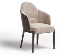 Sedia in pelle e in legno con braccioliN°5 | Sedia con braccioli - PAOLO CASTELLI