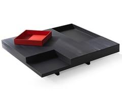 Tavolino basso quadrato in legnoN.Y. | Tavolino quadrato - ALBEDO S.R.L. UNIPERSONALE