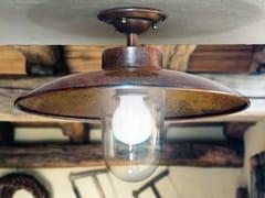 Lampada da soffitto space age in alluminio di niba anni in