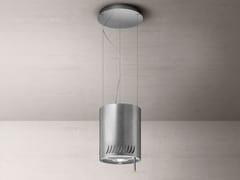 Cappa ad isola in acciaio inox in stile moderno con illuminazione integrataNAKED URBAN - ELICA