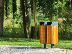 mmcité1, NANUK   Portarifiuti in legno  Portarifiuti in legno