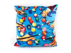 Cuscino quadrato in tessuto SNOOKER | Cuscino - Seletti wears Toiletpaper