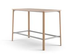 Tavolo alto rettangolare in legnoNATE | Tavolo alto - BRUNNER