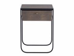 Tavolino / comodino in legno impiallacciatoNATI TATI | Tavolino con vano contenitore - ASPLUND