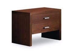 Comodino in legno con cassetti NATURA 2 | Comodino - Natura