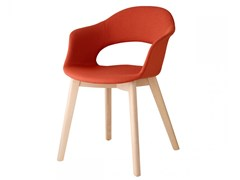 Sedia in tessuto con braccioliNATURAL LADY B POP | Sedia - SCAB DESIGN