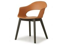 Sedia in tecnopolimero con braccioliNATURAL LADY B | Sedia - SCAB DESIGN