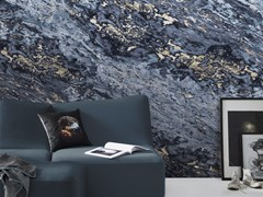 Carta da parati lavabile panoramica effetto marmo NAVY BLUE & BEIGE SARRANCOLIN MARBLE | Carta da parati panoramica - Marbles