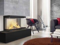 Kratki, NBC 10 Caminetto a legna in acciaio con vetro panoramico