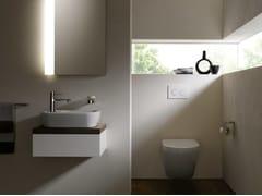 Lavamani da appoggio rettangolare in ceramicaNC | Lavamani rettangolare - TOTO