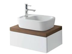 Mobile lavabo singolo sospeso in noce con ante NC   Mobile lavabo singolo - NC