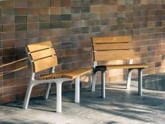 Seduta da esterni in legnoNEOROMÁNTICO CLASICO | Seduta da esterni - URBIDERMIS