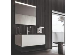 Mobile lavabo laccato sospeso con porta asciugamani NEROLAB | Mobile lavabo con porta asciugamani - Nerolab