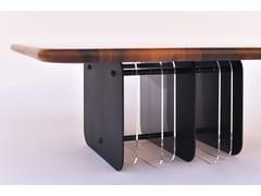 Tavolino da caffè quadrato in noceNETTO - BOKA PROM DOOEL