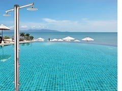 Ama Luxury Shower, NETTUNO Doccia esterna / doccia per piscine in acciaio inox