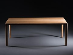Tavolo da pranzo rettangolare in legno masselloNEVA | Tavolo da pranzo - ARTISAN