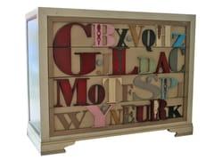 Cassettiera in legnoNEW AGE - LOLA GLAMOUR