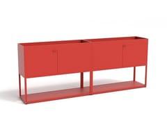 Mobile ufficio in alluminio con ante a battenteNEW ORDER COMB. 203 - HAY