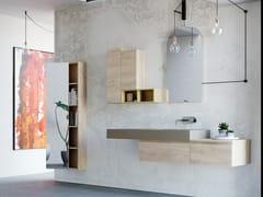 Mobile lavabo singolo sospeso in quercia con cassettiNEW SMART NS21 - ARTEBA