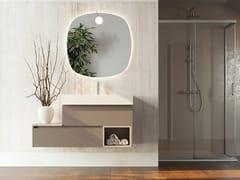 Mobile lavabo laccato sospeso in legno con cassettiNEW SMART NS22 - ARTEBA