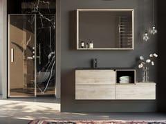 Mobile lavabo singolo in legno in stile moderno con cassetti con specchioNEW SMART NS24 - ARTEBA