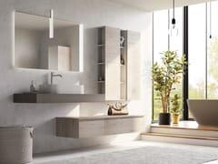 Mobile lavabo singolo sospeso in legno con cassettiNEW SMART NS25 - ARTEBA