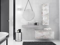 Mobile lavabo singolo sospeso in legno con cassettiNEW SMART NS29 - ARTEBA