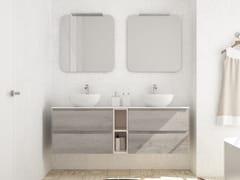 Mobile lavabo doppio sospeso in legno con cassettiNEW SMART NS30 - ARTEBA