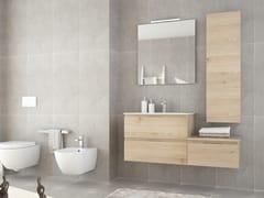 Mobile lavabo singolo sospeso in legno con cassettiNEW SMART NS32 - ARTEBA