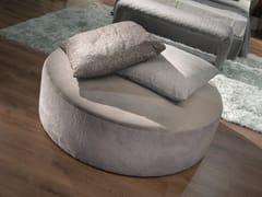 Pouf letto imbottito rotondo in tessutoPouf letto rotondo - LINEA & CASA +39