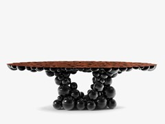 Tavolo da pranzo laccato in noceNEWTON BLACK WALNUT - BOCA DO LOBO