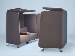 Isola ufficio acustica in tessuto con illuminazione integrata per pausa caffè NICHE | Isola ufficio con illuminazione integrata -