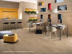 Rivestimento in ceramica a pasta bianca effetto legno NID WALL | Rivestimento - Nid