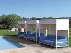 Sprech, NIDO Divano da giardino a baldacchino in alluminio e PVC