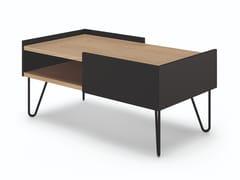 Tavolino basso rettangolare in legno e metalloNINA | Tavolino - TEMAHOME