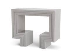Consolle / mobile bar in pietra artificialeNIX - DOORWAY