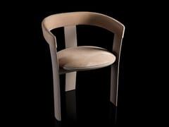 Sedia in legno con cuscino integratoNOCE - H-07
