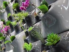 Vaso da parete modulare in gres ceramicoGRADIENT WALL - PANDEMIC DESIGN STUDIO