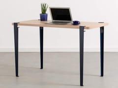 Scrivania rettangolare in acciaio e legnoNOMA - TIPTOE