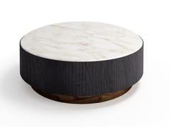 Tavolino in legno di massello con piano in marmo o pelleNORI - GALLOTTI&RADICE